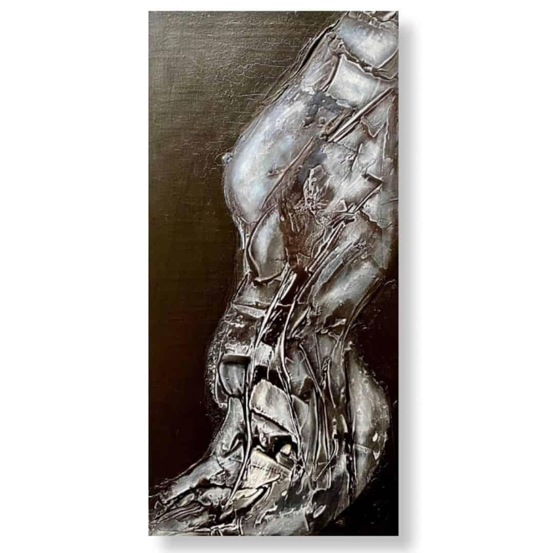 Bodice original abstract art by Ludwina Dautovic