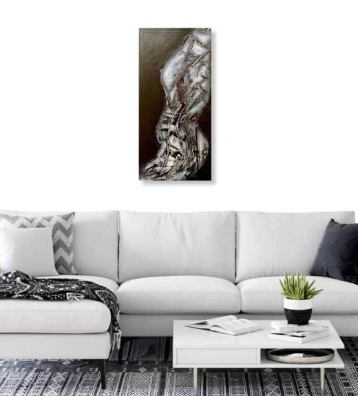 Bodice original abstract art by Ludwina Dautovic wall